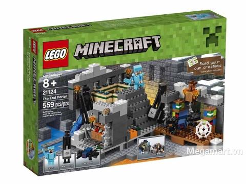 Hình ảnh vỏ hộp bộ Lego Minecraft 21124 - Cổng thông tin khổng lồ