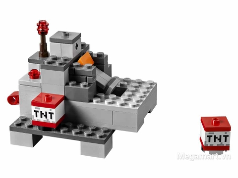 Lego Minecraft 21126 - Ma ba dầu Wither - chi tiết chất nổ TNT