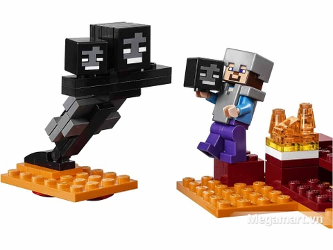 Lego Minecraft 21126 - Ma ba dầu Wither - Nether chiến đấu với Wither