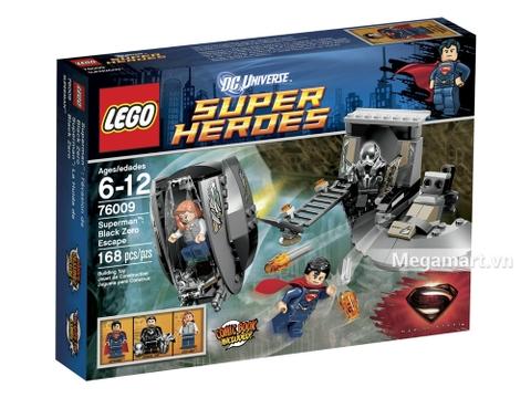 Hình ảnh vỏ hộp bộ Lego Super Heroes 76009 - Cuộc tẩu thoát của Black Zero