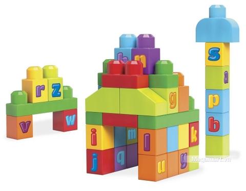 Các chi tiết có trong bộ đồ chơi xếp hình Mega Bloks Xếp khối chữ cái