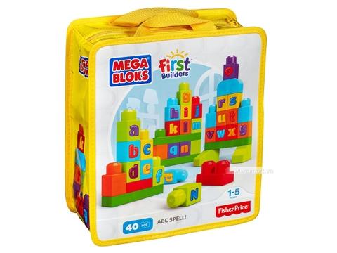 Vỏ hộp của sản phẩm Mega Bloks Xếp khối chữ cái