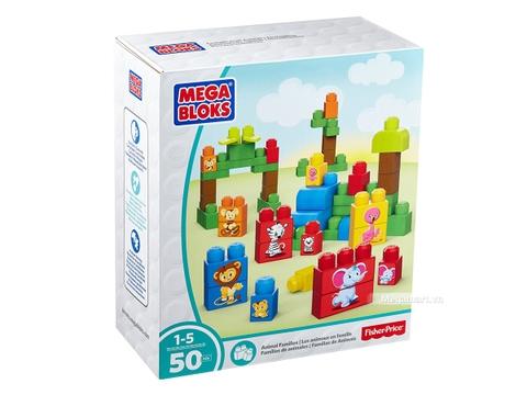 Hình ảnh vỏ hộp bộ Mega Bloks Xếp khối thú xinh