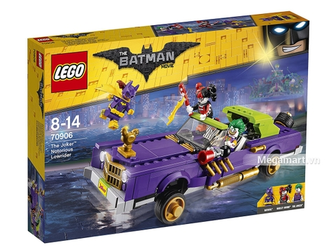 Hình ảnh vỏ hộp bộ Lego Batman Movie 70906 - Xế độ của Joker