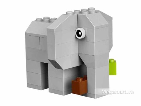 Lego Brick & More 10682 - Vali sáng tạo Lego - chú voi dễ thương