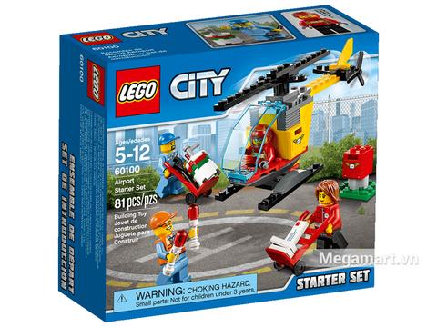 Hình ảnh vỏ hộp bộ Lego City 60100 - Bộ lắp ráp sân bay khởi đầu