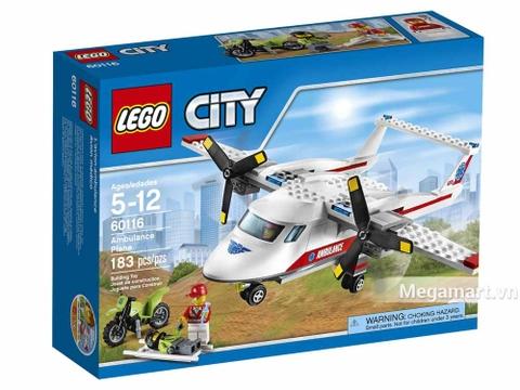 Ảnh bìa sản phẩm Lego City 60116 - Máy Bay Cứu Hộ