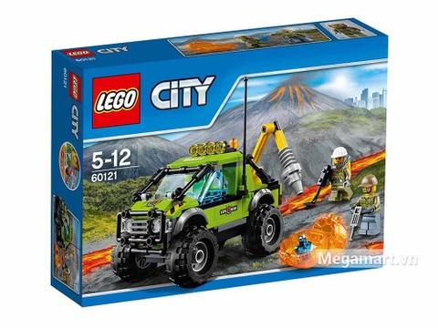 Hình ảnh vỏ hộp bộ Lego City 60121 - Xe khám phá núi lửa