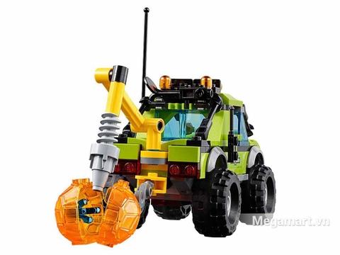 Lego City 60121 - Xe khám phá núi lửa - cỗ xe lực lưỡng
