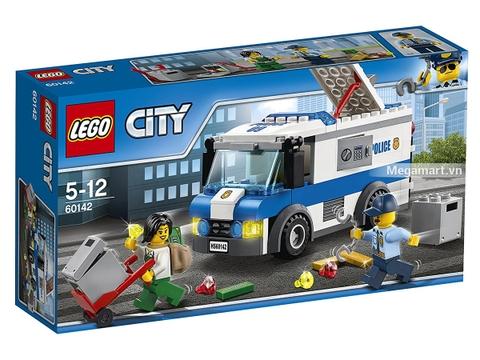 Hình ảnh vỏ hộp bộ Lego City 60142 - Xe chuyển tiền