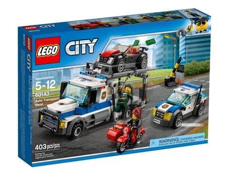 Hình ảnh vỏ hộp bộ Lego City 60143 - Xe vận chuyển phi pháp