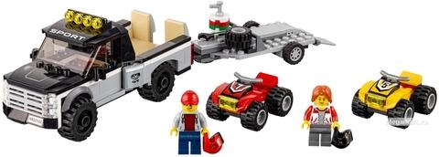 Các mô hình ấn tượng trong bộ Lego City 60148 - Đội đua xe địa hình