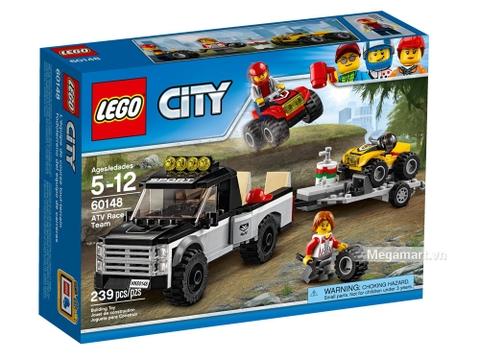 Hình ảnh vỏ hộp bộ Lego City 60148 - Đội đua xe địa hình