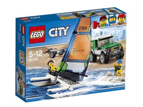Lego City 60149 - Xe địa hình 4x4 và thuyền buồm hai thân - Hình ảnh vỏ hộp sản phẩm
