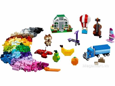 Lego Classic 10705 - Giỏ lắp ráp sáng tạo - toàn cảnh bộ đồ chơi