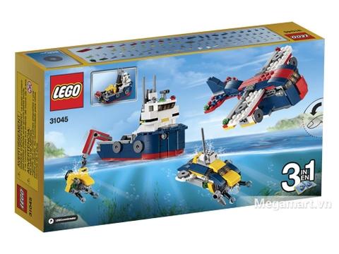 Vỏ hộp sản phẩm Lego Creator 31045 - Khám phá đại dương mặt sau