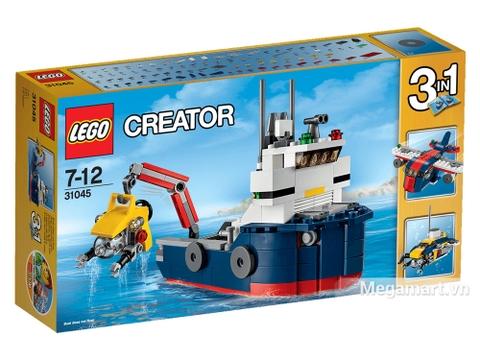 Vỏ ngoài sản phẩm Lego Creator 31045 - Khám phá đại dương (mặt trước)