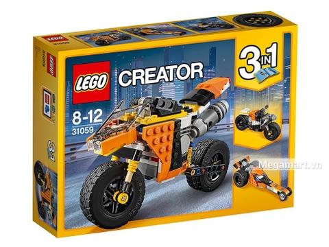 Vỏ hộp Lego Creator 31059 - Xe mô tô đường phố