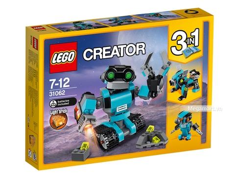 Vỏ hộp Lego Creator 31062 - Robot thăm dò