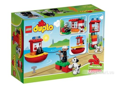 Lego Duplo 10591 - Tàu cứu hỏa - ảnh bìa sau của sản phẩm