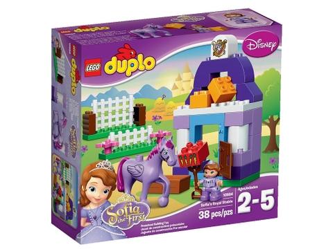 Hình ảnh vỏ hộp bộ Lego Duplo 10594 - Chuồng Ngựa Hoàng Gia Của Sofia