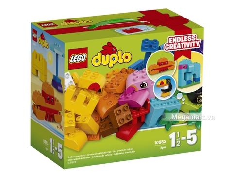 Hình ảnh vỏ hộp bộ Lego Duplo 10853 - Bộ Duplo lắp ráp sáng tạo