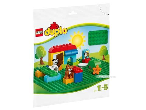 Hình ảnh vỏ hộp bộ Lego Duplo 2304 - Tấm nền ráp lớn màu xanh