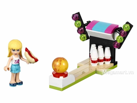 Lego Friends 30399 - Bowling Trong Công Viên Giải Trí - các chi tiết trong bộ đồ chơi
