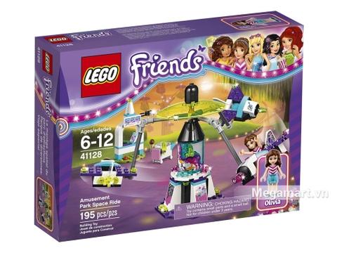 Vỏ hộp Lego Friends 41128 - Công viên giải trí du hành không gian