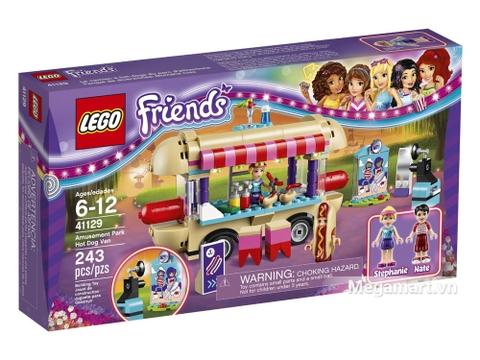 Vỏ hộp Lego Friends 41129 - Cửa hàng ăn vặt lưu động