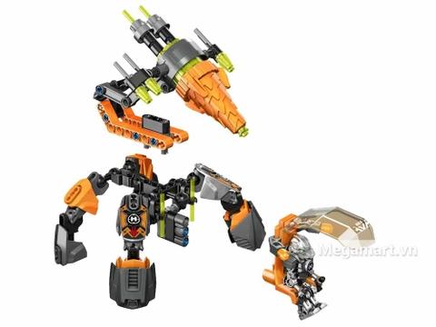 Lego Hero Factory 44025 - Cỗ máy khoan của Bulk - các chi tiết chính