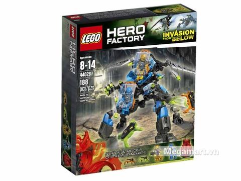 Vỏ hộp đồ chơiLego Hero Factory 44028 - Cỗ máy chiến đấu của Surge và Rocka