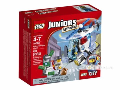 Hình ảnh vỏ hộp bộ Lego Juniors 10720 - Trực Thăng Cảnh Sát Bắt Cướp