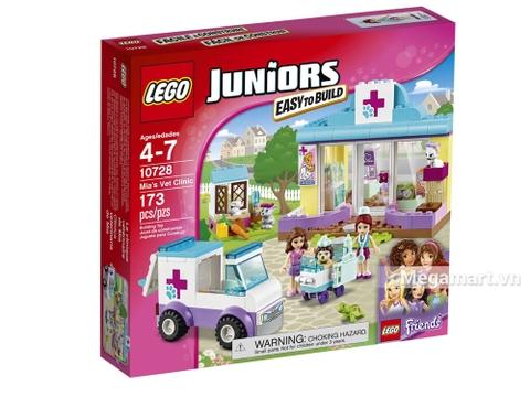 Hình ảnh vỏ hộp bộ Lego Juniors 10728 - Phòng khám thú cưng của Mia