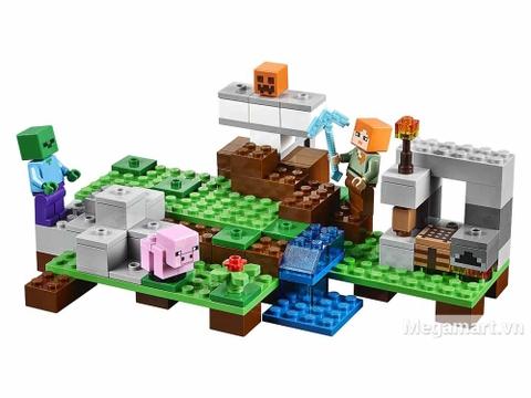Lego Minecraft 21123 - Hộ vệ sắt Golem - bộ đồ chơi thông minh