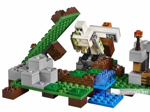 Lego Minecraft 21123 - Hộ vệ sắt Golem - phân cảnh kịch tính