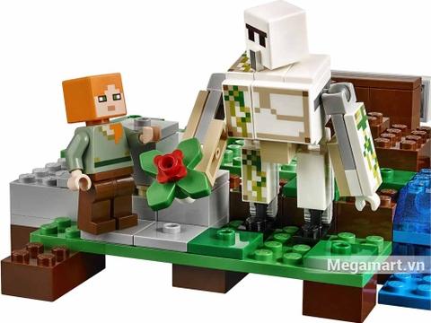 Lego Minecraft 21123 - Hộ vệ sắt Golem - Golem giúp trồng trọt