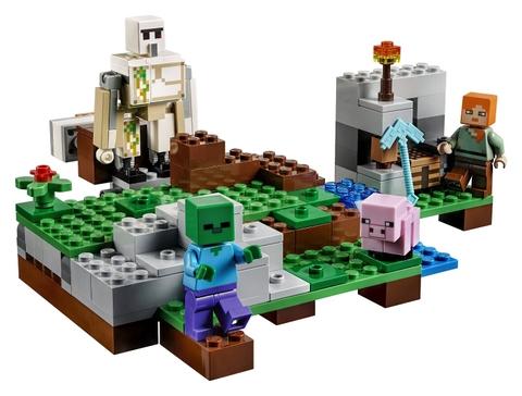 Các mô hình ấn tượng trong bộ Lego Minecraft 21123 - Hộ vệ sắt Golem