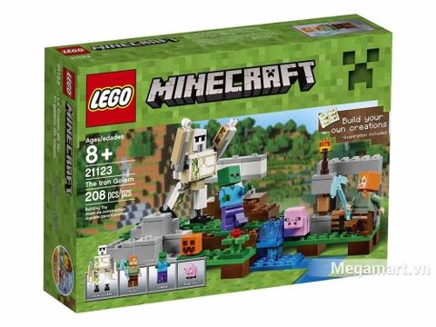 Hình ảnh vỏ hộp bộ Lego Minecraft 21123 - Hộ vệ sắt Golem