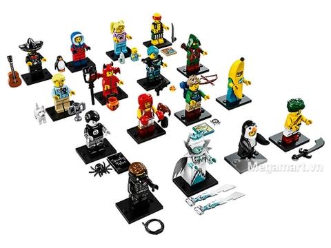 Các mô hình có trong Lego Minifigures 71013 - Nhân vật Lego số 16