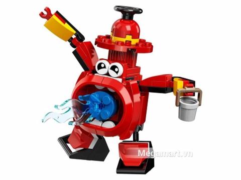 Các mô hình ấn tượng trong bộ Lego Mixels 41563 - Trụ cứu hỏa miệng rộng Splasho