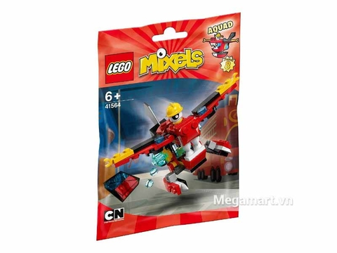 Túi đựng màu đỏ xinh xắn của bộ ghép hình Lego Mixels 41564 - Phi cơ cứu hỏa Aquad