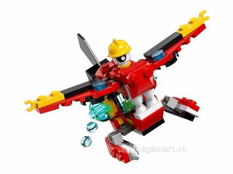 Các mô hình ấn tượng trong bộ Lego Mixels 41564 - Phi cơ cứu hỏa Aquad