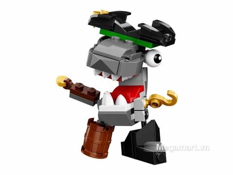 Các mô hình ấn tượng trong bộ Lego Mixels 41566 - Thuyền trưởng cá mập Sharx