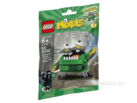 Vỏ hộp sản phẩm Lego Mixels 41572 - Thùng rác thông minh Gobbol