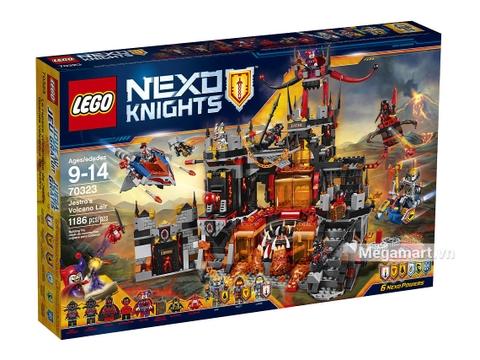 Vỏ hộp sản phẩm Lego Nexo Knights 70323 - Hang ổ nham thạch của Jestro