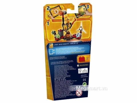 Lego Nexo Knights 70339 - Quỷ Flama - ảnh bìa sau sản phẩm