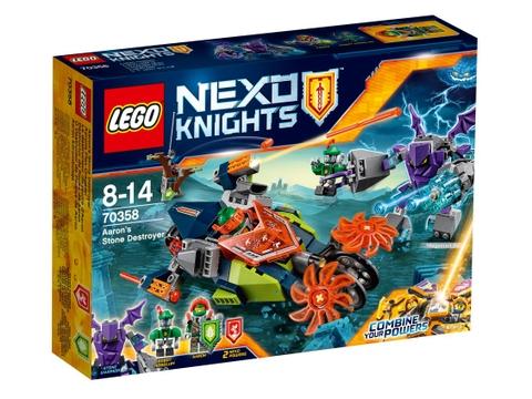 Hình ảnh vỏ hộp bộ Lego Nexo Knights 70358 - Cỗ máy đá của Aaron