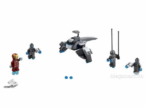 Lego Super Heroes 76029 - Iron Man Đối Đầu Ultron - toàn bộ các chi tiết