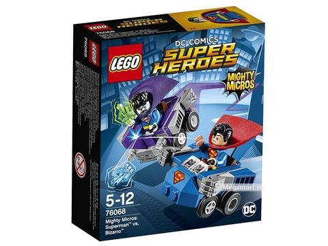 Hình ảnh vỏ hộp bộ Lego Super Heroes 76068 - Siêu nhân đại chiến Bizarro